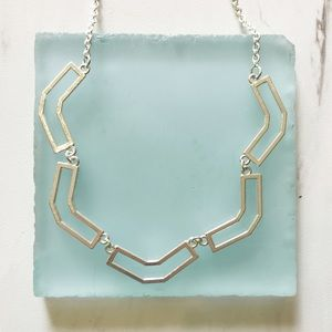 A New Day U Shaped Silver Necklace